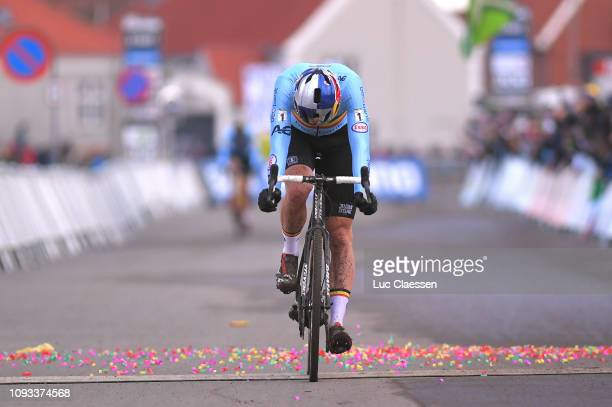 Arrival / Wout Van Aert of Belgium and Team Belgium / Disappointment / during the 70th Cyclo-cross World Championships Bogense 2019, Men Elite /...