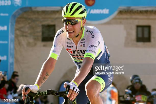 Arrival / Xandro Meurisse of Belgium and Team Circus - Wanty Gobert / Celebration / during the 40th Vuelta a Murcia 2020, Stage 1 a 177,6km stage...