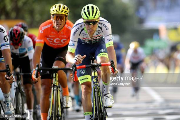 Arrival / Xandro Meurisse of Belgium and Team Wanty-Gobert / during the 106th Tour de France 2019, Stage 8 a 200km stage from Mâcon to Saint-Étienne...