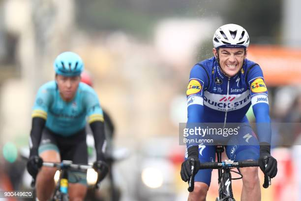 Arrival / Yves Lampaert of Belgium and QuickStep Floors during the 76th Paris Nice 2018 Stage 8 a 110km stage from Nice to Nice on March 11 2018 in...