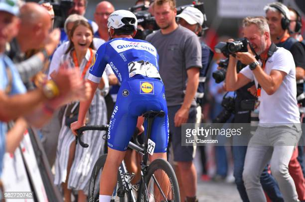 Arrival / Yves Lampaert of Belgium and Team Quick-Step Floors / Astrid Demeulemeester of Belgium Girlfriend / Celebration / during the 119th Belgian...