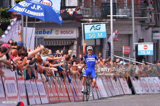 Arrival / Yves Lampaert of Belgium and Team Quick-Step Floors / Celebration / Fans / Public / during the 119th Belgian Road Championship 2018, Elite...