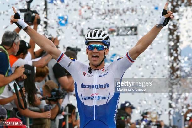 Arrival / Zdeněk Štybar of Czech Republic and Deceuninck - Quick-Step Team / Celebration / during the 38th Vuelta a San Juan International 2020,...