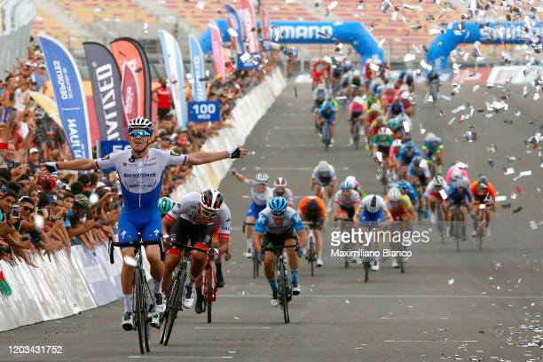 Arrival / Zdeněk Štybar of Czech Republic and Deceuninck - Quick-Step Team / Celebration / Juan Sebastián Molano of Colombia and UAE Team Emirates /...