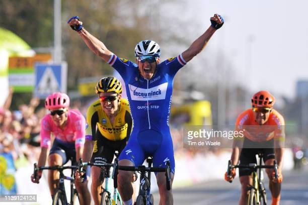 Arrival / Zdeněk Štybar of Czech Republic and Team Deceuninck QuickStep Celebration / Alberto Bettiol of Italy and Team Ef Education First / Greg Van...
