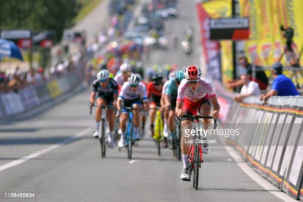 Arrival / Zico Waeytens of Belgium and Team Cofidis Solutions Credits / during the 72nd Halle Ingooigem 2019 a 2009km race from Halle to Ingooigem /...