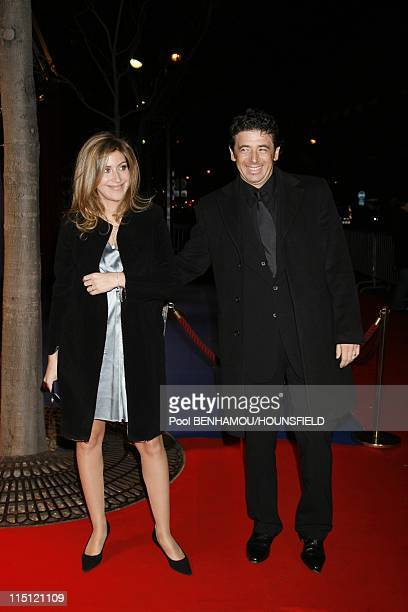 Arrivals 32nd Cesar Awards Ceremony at the Theatre du Chatelet in Paris France on February 24 2007 Patrick Bruel and his wife Amanda Sthers