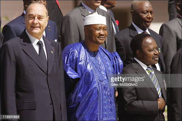Arrivals And Opening Ceremony At The 23Rd AfricanFrench Summit On December 3Rd 2005 In Bamako Mali Here French President Jacques Chirac Amadou...