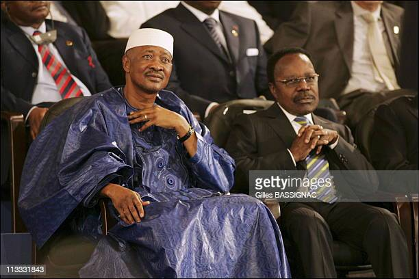Arrivals And Opening Ceremony At The 23Rd AfricanFrench Summit On December 3Rd 2005 In Bamako Mali Here Amadou Toumani Toure President Of The...