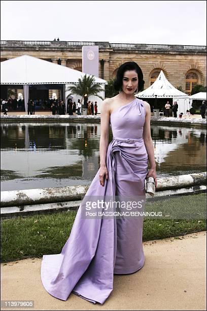 Arrivals at Christian Dior Haute Couture AutumnWinter 20072008 fashion show at Orangerie in Versailles Palace in Versailles France On July 02...