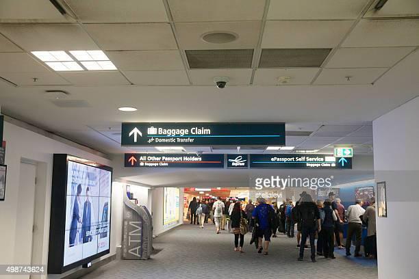Arrivals at Sydney International airport