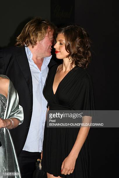 Arrivals Diner's ceremony of the60th Cannes International Film Festival in Cannes France on May 20 2007 Gerard Depardieu and Clementine Igou