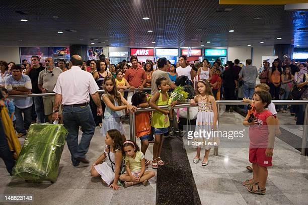 Arrivals hall, Recife International Airport terminal.