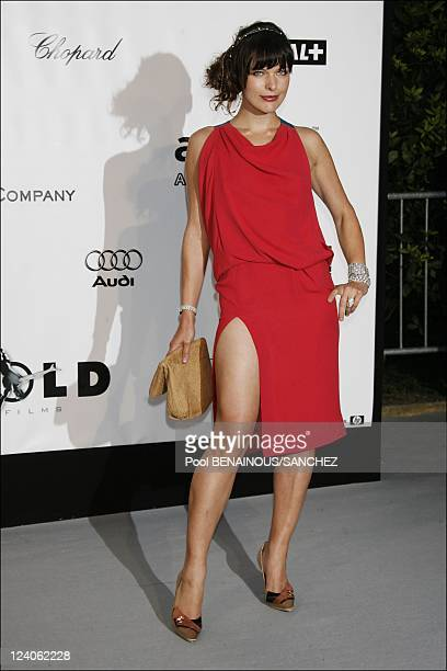 Arrivals of Annual 2008 AmfAR Gala In Mougins France On May 22 2008 Milla Jovovich