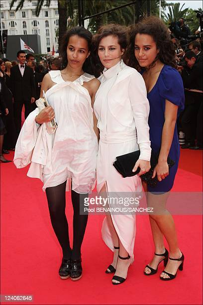 Arrivals of Palme d'Or closing ceremony at the Cannes film festival 2008 In Cannes, France On May 25, 2008- Sophie Duez and guests.