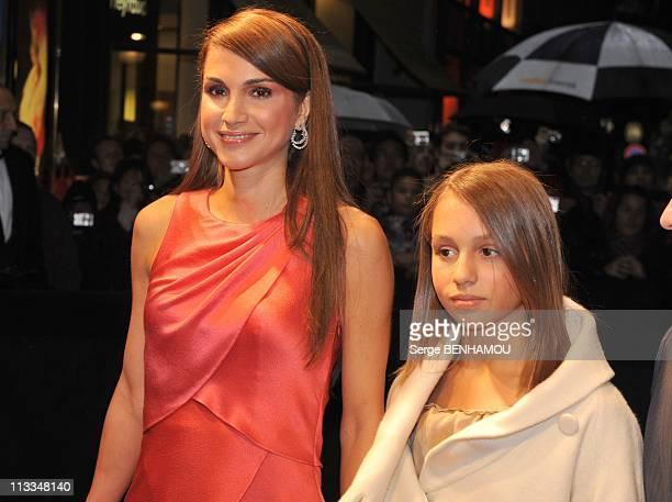 Arrivals Of Quantum Of Solace The New James Bond With Daniel Craig And Olga Kurylenko In Paris France On October 30 2008 Queen Rania of Jordan...