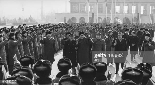 Arrivée de la délégation albanaise à Pekin le 13 janvier 1967 Chine