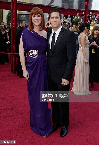 arrives Actress Molly Ringwald and husband Panio Gianopoulos at the 82nd Annual Academy Awards held at the Kodak Theatre on March 7 2010 in Hollywood...