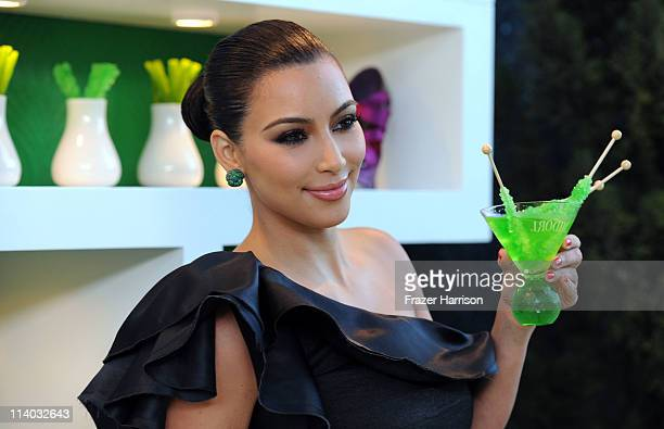 arrives at Kim Kardashian Midori Melon Liqueur launches The Midori Trunk Shows at Trousdale on May 10 2011 in West Hollywood California