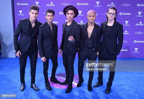 Cnco Arrives At Telemundo S 2017 Premios Tu Mundo At