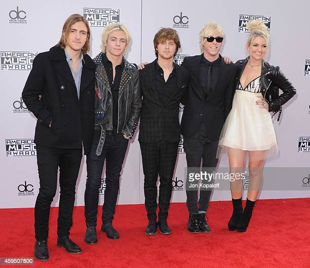 R5 arrives at the 2014 American Music Awards at Nokia Theatre LA Live on November 23 2014 in Los Angeles California