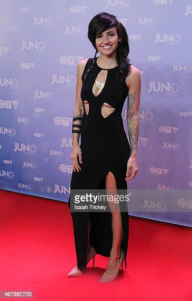 LIGHTS arrives at the 2015 Juno Awards at FirstOntario Centre on March 15 2015 in Hamilton Canada
