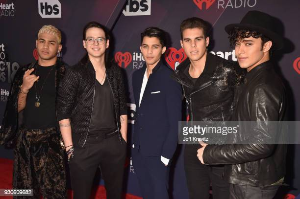 CNCO arrives at the 2018 iHeartRadio Music Awards which broadcasted live on TBS TNT and truTV at The Forum on March 11 2018 in Inglewood California