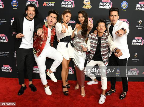 JAGMAC arrives at the 2018 Radio Disney Music Awards at Loews Hollywood Hotel on June 22 2018 in Hollywood California