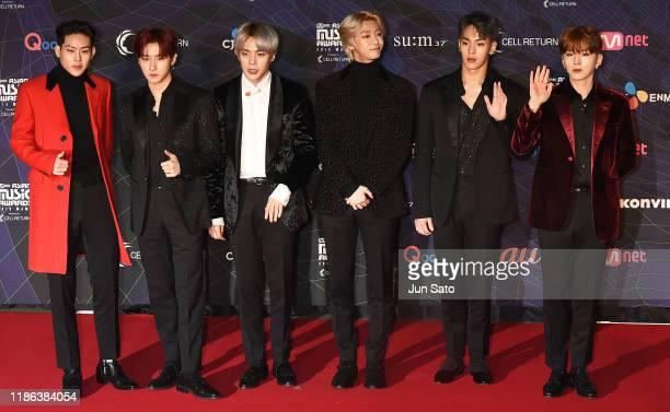 Arrives at the 2019 Mnet Asian Music Awards Red Carpet at Nagoya Dome on December 4, 2019 in Nagoya, Japan.