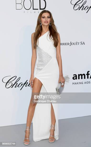 arrives at the amfAR Gala Cannes 2018 at Hotel du CapEdenRoc on May 17 2018 in Cap d'Antibes France