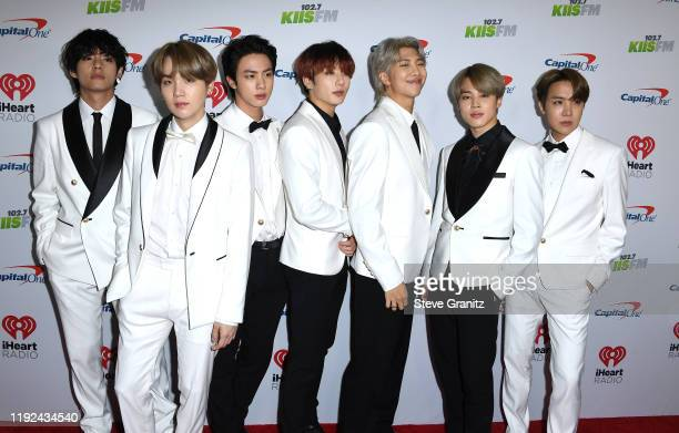 BTS arrives at the KIIS FM's Jingle Ball 2019 Presented By Capital One At The Forum at The Forum on December 06 2019 in Inglewood California
