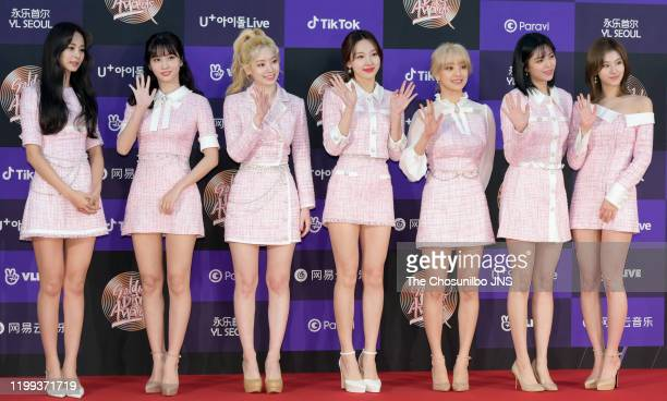 TWICE arrives at the photocall for the 34th Golden Disc Awards on January 05 2020 in Seoul South Korea