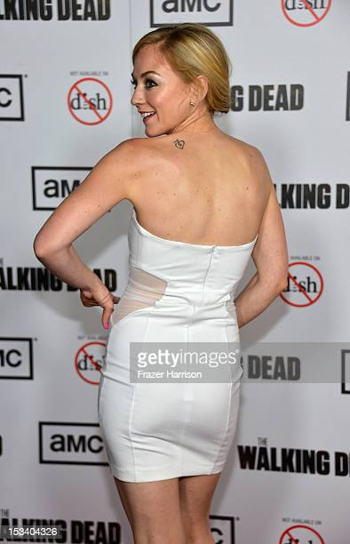 arrives at the premiere of AMC's 'The Walking Dead' 3rd Season at Universal CityWalk on October 4 2012 in Universal City California