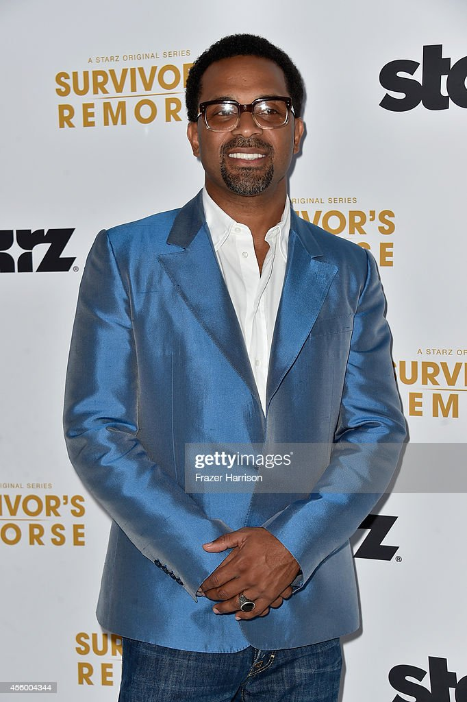 arrives at the Premiere Of Starz 'Survivor's Remorse' at Wallis Annenberg Center for the Performing Arts on September 23, 2014 in Beverly Hills, California.