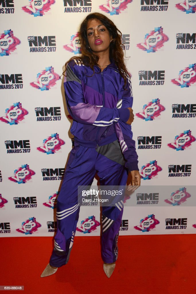 A arrives at the VO5 NME awards 2017 on February 15, 2017 in London, United Kingdom.