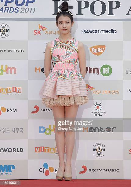 Arrives during the 1st Gaon Chart K-POP Awards at Blue Square on February 22, 2012 in Seoul, South Korea.