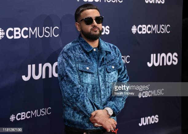 NAV arrives on the red carpet at the 2019 Juno Awards at London Convention Centre on March 17 2019 in London Canada