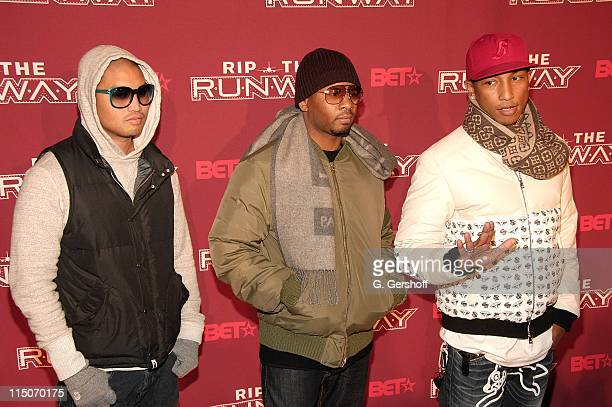 D arrives to BET's Rip the Runway 2008 event at Hammerstein Ballroom on Februrary 21 2008 in New York City