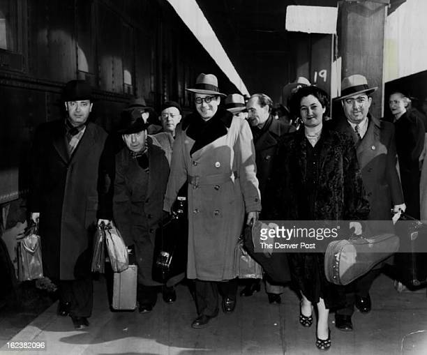 FEB 21 1951 Arriving at Denver's union station Wednesday morning for a concert Wednesday night in city auditorium were these three members of the...