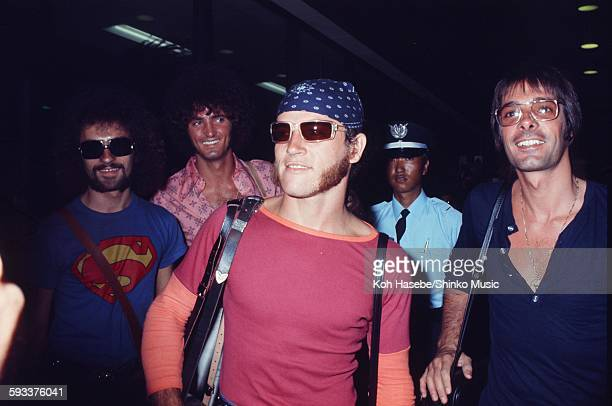Arriving at Haneda airport as GRAND FUNK, Tokyo, May 16, 1975.