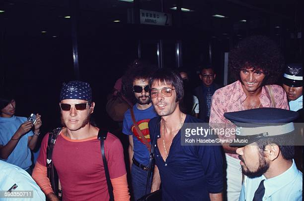 Arriving at Narita airport as GRAND FUNK, Tokyo, May 16, 1975.