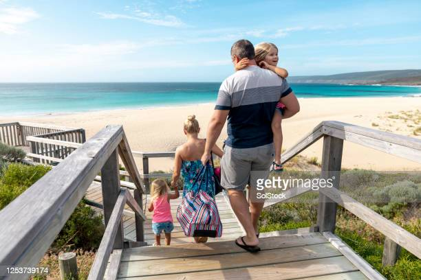 arriving at the beach - perth australia stock pictures, royalty-free photos & images