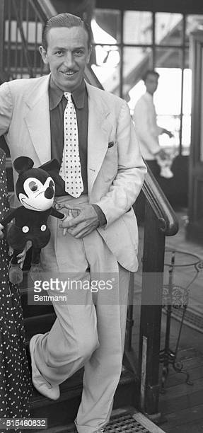 Arriving on the Rex is Walt Disney creator of Mickey Mouse Mickey Mouse is the animated cartoon character who cavorts his way over the silver sheet...