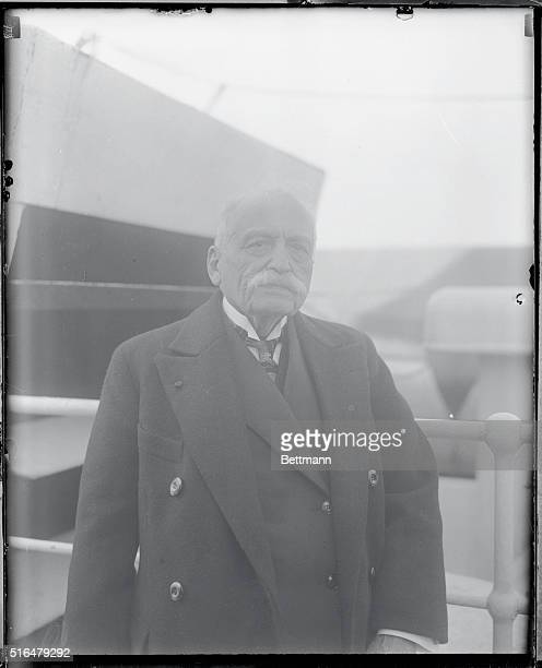 Arriving on the SS Paris New York City As he arrived on the SS Paris photo shows Auguste Escoffier famous French culinary expert