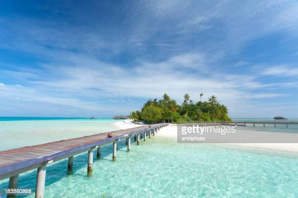 Ankunft am tropischen Insel
