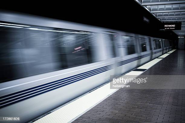 bart arriving - oakland california stock pictures, royalty-free photos & images