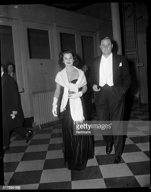 Arriving to attend the lavish opening of the Metropolitan Opera season Nov 21 are Mr and Mrs John Sims Kelly She is the former Brenda Frazier...