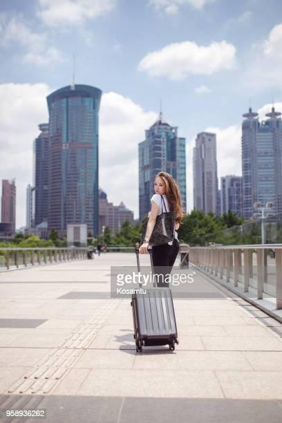 En arrivant à Shanghai