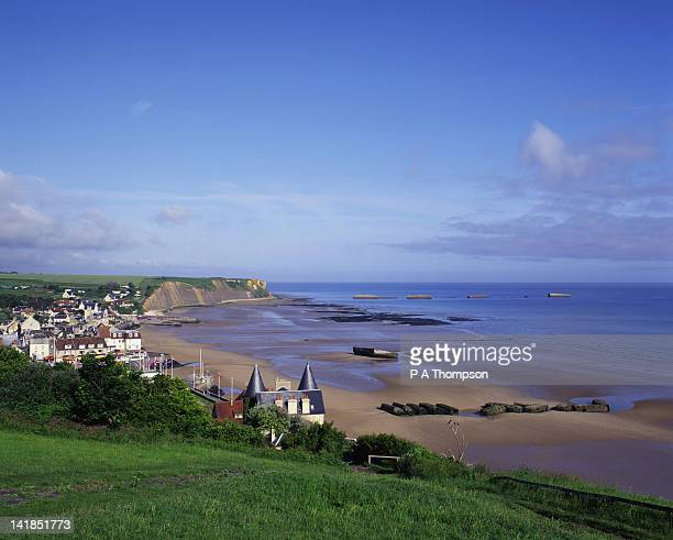 Arromanches and Gold Beach D Day Landings, Calvados, Normandy, France