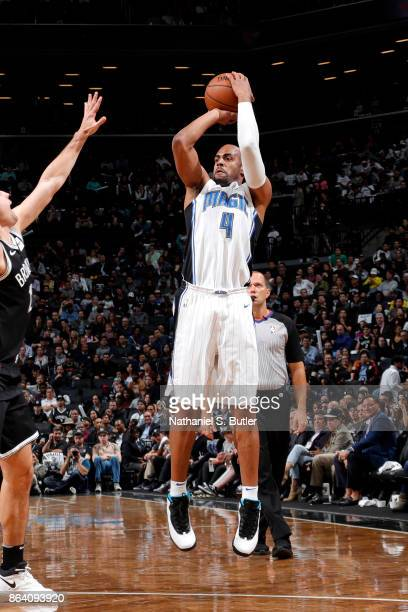 Arron Afflalo of the Orlando Magic shoots the ball against the Brooklyn Nets on October 20 2017 at Barclays Center in Brooklyn New York NOTE TO USER...